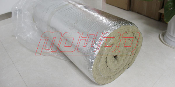 Rockwool blanket with aluminium foil